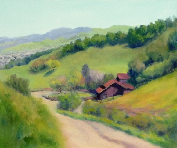 "Borges Ranch View, Acrylic on canvas panel, 10""x12"""