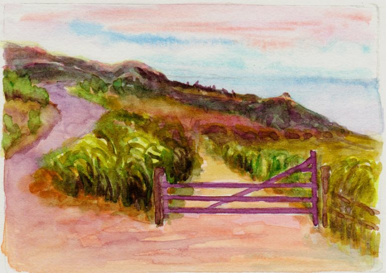 Hawaii Virtual Paint-Out, Watercolor