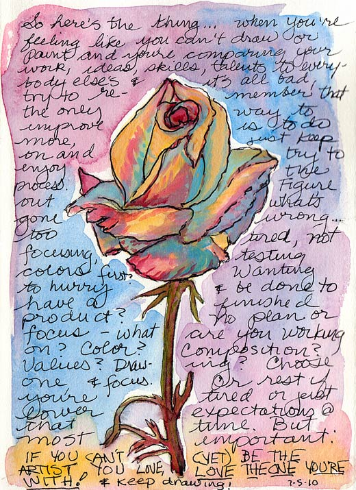 Love the (Artist) You're With; Ink, gouache & watercolor