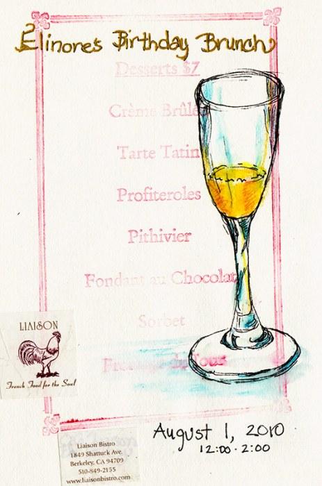 Elinore's Birthday Mimosa; mixed media
