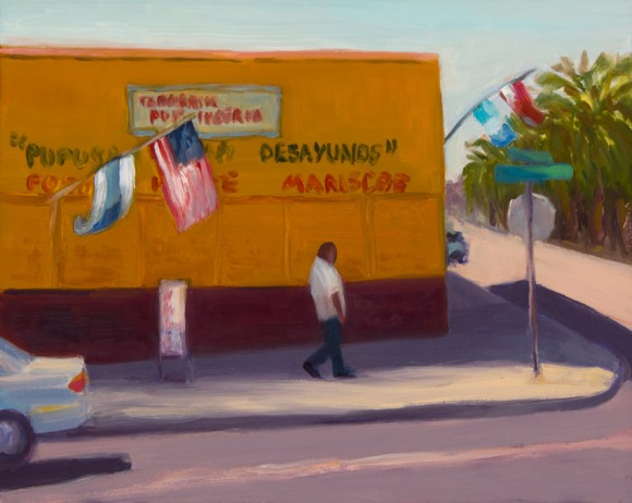 Pupusas and Desayunos; oil on panel, 8x10""