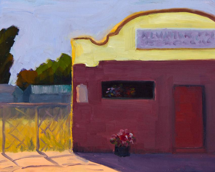 "Alvarado Bar and Grill, San Pablo; oil on panel, 8x10"""