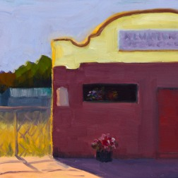 Alvarado Bar and Grill, San Pablo; oil on panel, 8x10""