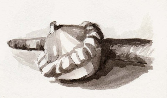 Value study 1, ink washes