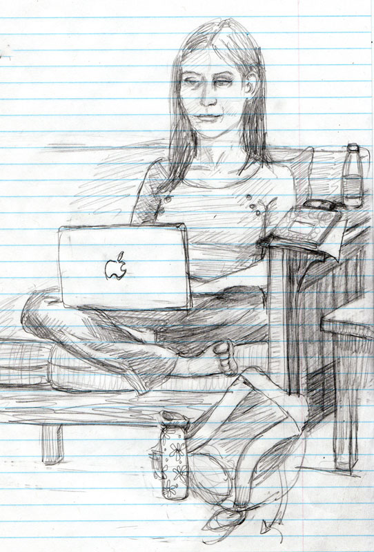 All day meeting sketches 2 pencil
