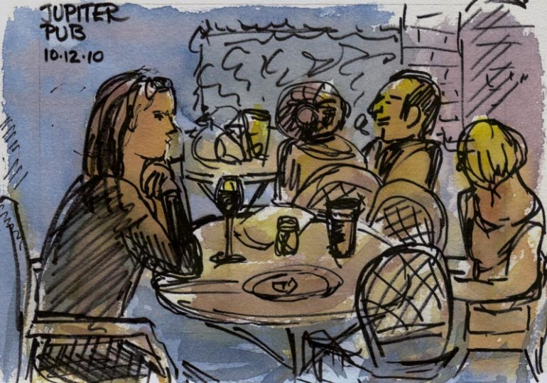 Jupiter, Ink & watercolor