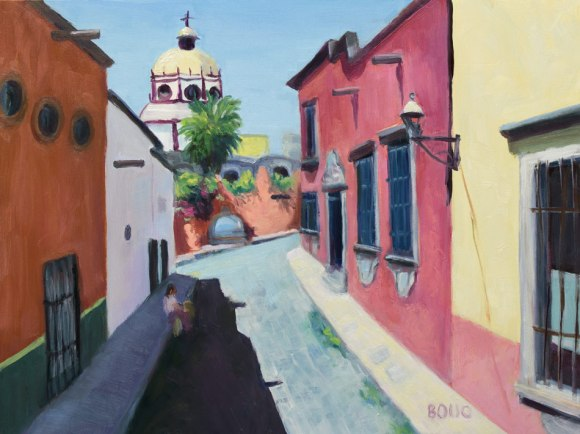 "San Miguel de Allende, Mexico, 9""x12, oil on panel"