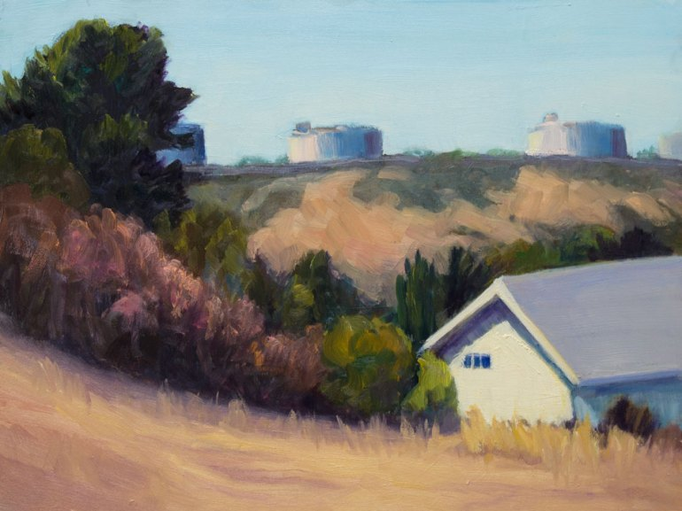 Tormey View, Oil on board, 9x12""