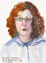 End of Journal Self-Portrait #1