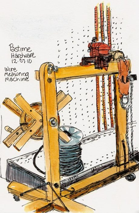 Wire Winding & Measuring Machine, Ink & Watercolor