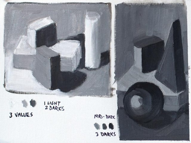 Value Study with blocks # 1