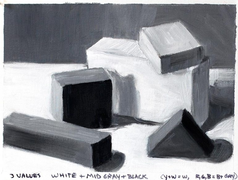 Value study with blocks #3