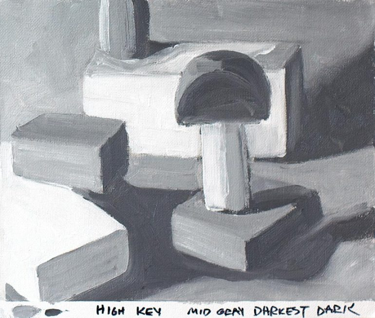 Value Study with blocks #4 - High Key