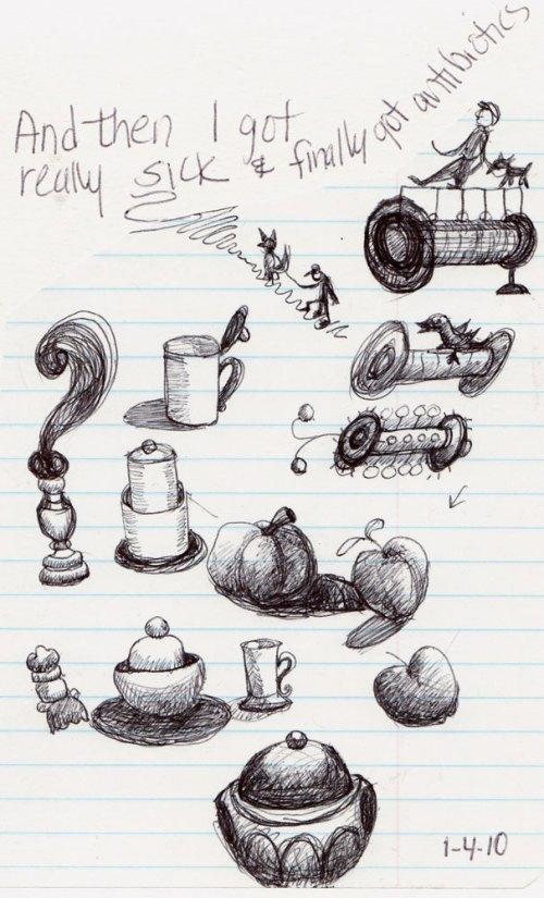 Doodling to Stay Awake at Meeting