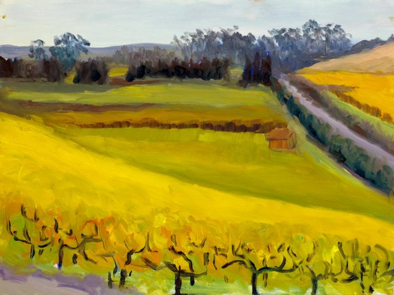 Viansa Vineyard, unfinished plein air