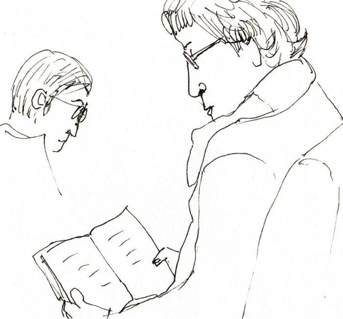 Sedate Subway Reader