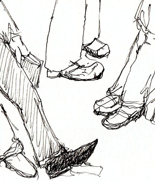 BART rider feet