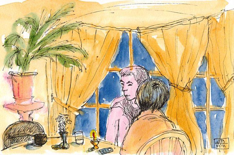 Le Bateau Ivre, ink & watercolor
