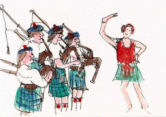 Pipe Band and Dancer