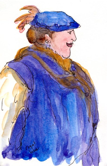 M'lady in royal blue