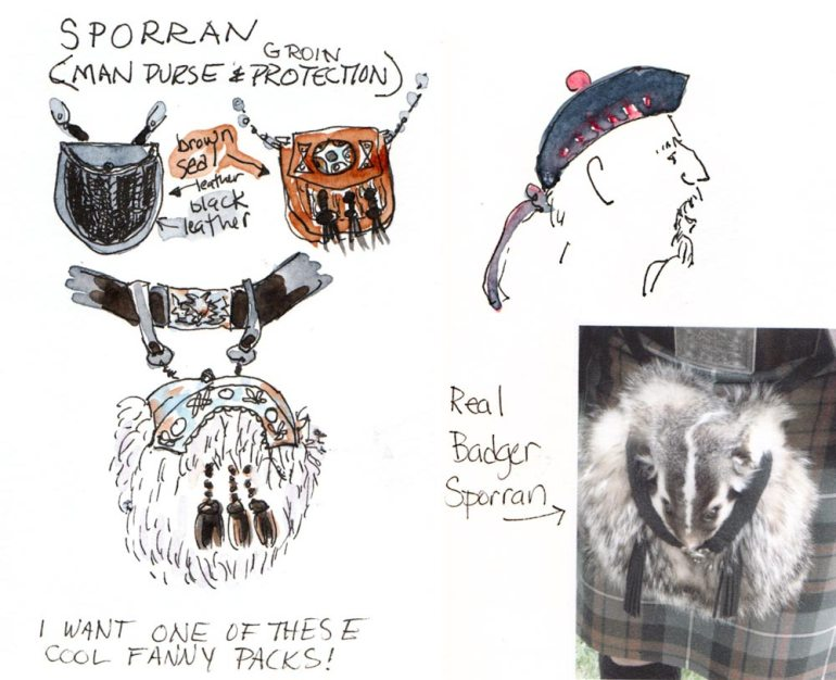 Sporran: Furry man purses worn with kilts