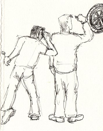 Dart players, ink