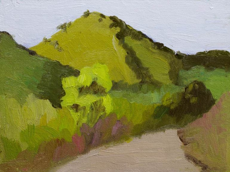 Borges Ranch View, oil on Raymar panel, 6x8""