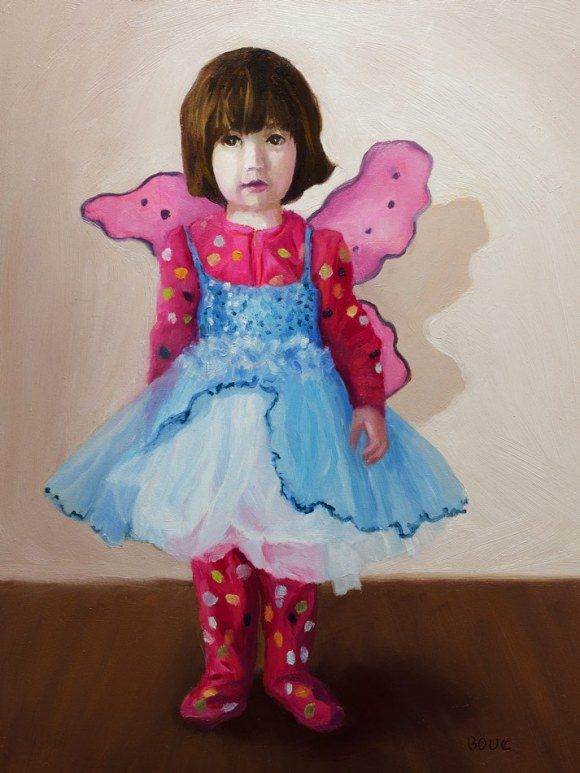 Portrait of Violet: An Angel in Jammies and Tutu; a little girl playing dress-up.