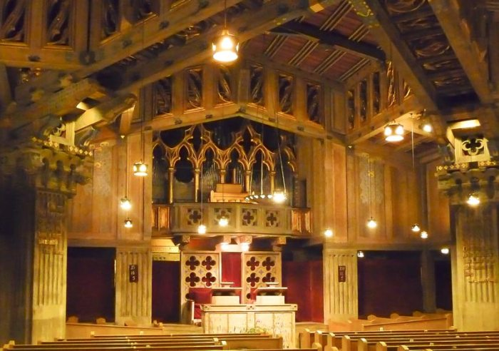 Interior photo from where I sat, First Church Christ Scientist