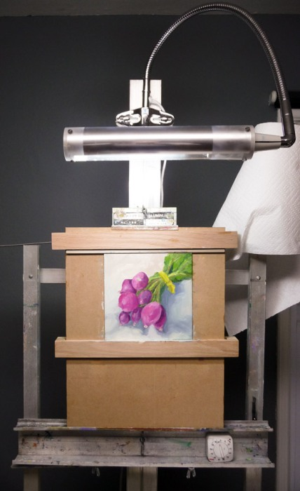 Daylight Easel Lamp and Karin Jurick Panel Holder