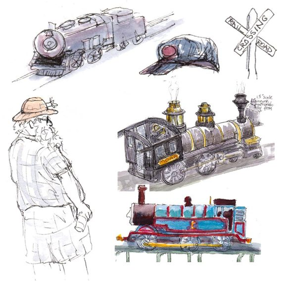 Steam Train Medley from multiple sketches