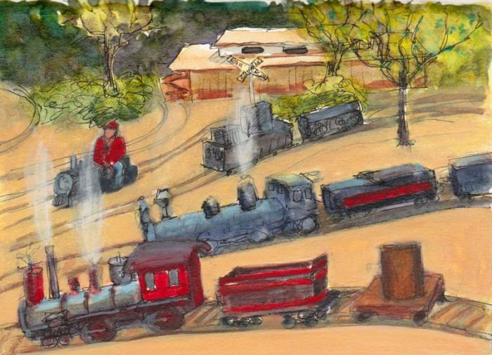 Trains: A futile attempt to draw them