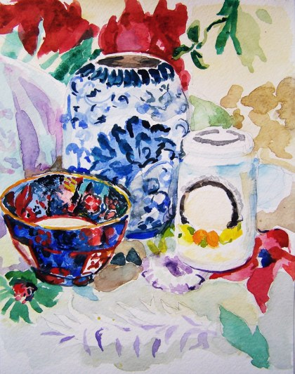 Watercolor Painting by Aletha Kuschan