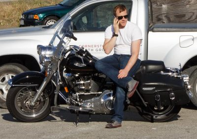 Phoning it in on a Harley