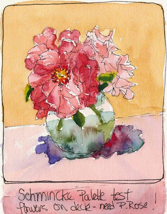 Schmincke Rose Saga #1, ink & watercolor