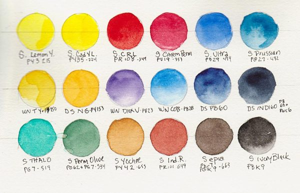 Schmincke palette original colors plus added middle row