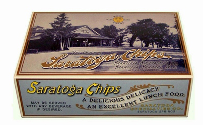 Box of Saratoga Springs Chips