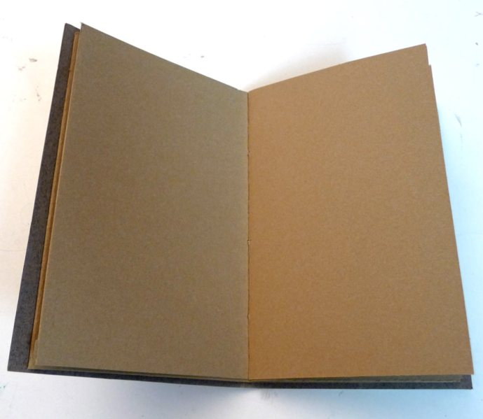 Interior of journal with Stonehenge Kraft Brown paper