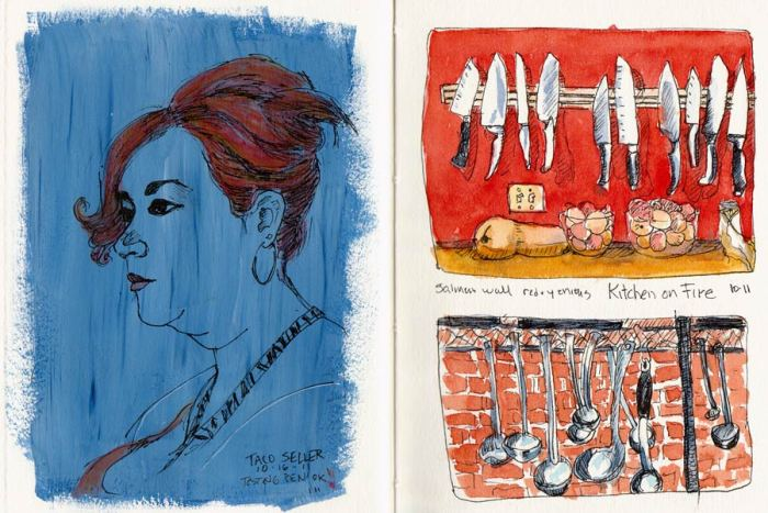 Taco Girl and Kitchen on Fire Spread in Journal
