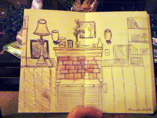 Mariah Sketches Her Living Room
