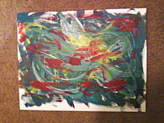Abstract Acrylic Painting by Mariah