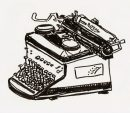 1950 Royal Typewriter, Pitt Brush Pen, 5x6""