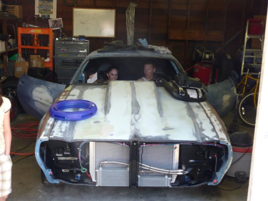 The 1970 Firebird Cody was restoring in my garage
