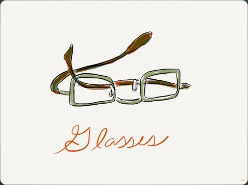 My Glasses, drawn on iPad