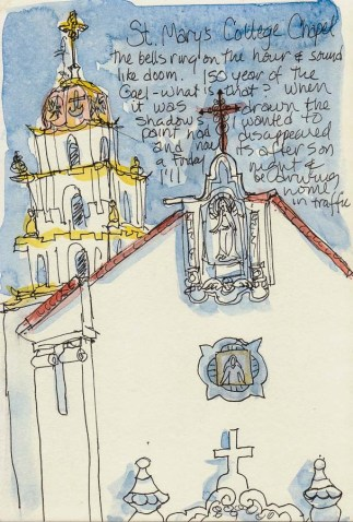 St. Mary's College Chapel #2,  ink & watercolor, 8x6