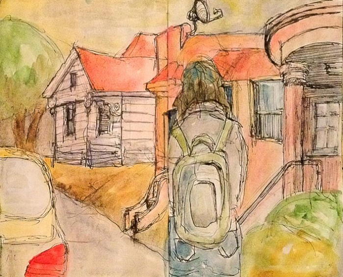 Susan Ford's Sketch of Me Sketching