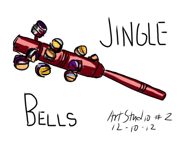 Jingle Bells, digital sketch done on iPad in ArtStudio app