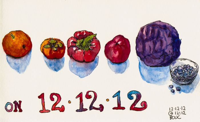 """...On 12-12-12"", ink & watercolor, 5x8"""