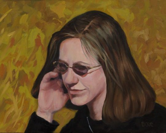 Portrait of Cyndy, oil on panel, 8x10""