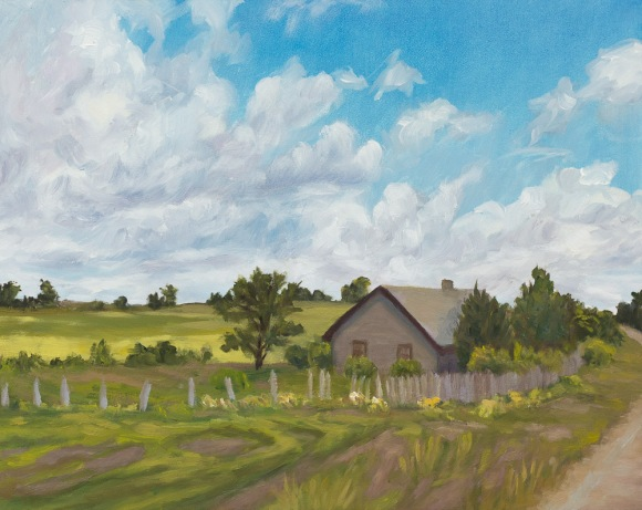 Virtual Paintout: Lithuania. Oil on panel, 8x10""